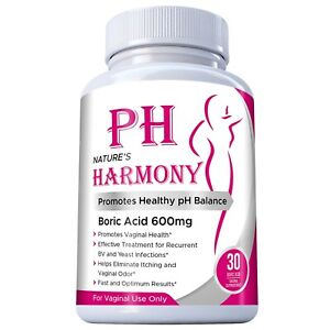 Harmony Boric Acid Vaginal Suppositories - 30 Count, 600mg