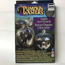 Halloween Crackle Paint and Stencil Kit Ghost & Pumpkins Pumpkin Masters