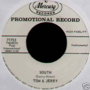 "TOM & JERRY ~ SOUTH / GOLDEN WILDWOOD FLOWER ~ 1960 US ""PROMO"" VINYL 7"" SINGLE"