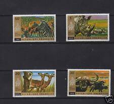 RWANDA SET/PART SET OF 4 CTO/NH WILD ANIMALS