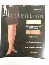 NOS Vintage Moulin Rouge Queen 4XL Extra Width Sized Beige Pantyhose NEW