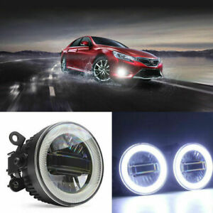 3in1 LED COB Angel Eyes+DRLs+Projector Lens Foglights Fit For Toyota Series