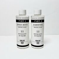 EPOXY RESIN 8 oz Kit for Super Gloss Coating, Crafts, Table Tops - CRYSTAL CLEAR