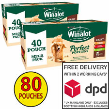 Winalot Perfect Portions Dog Food in Gravy Bulk Pack 2x (40x100g) = 80 Pouches!