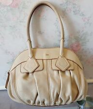 Sac Bag Authentique  Lancel Gousset Beige Leather Cuir