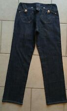 Womens VERSACHE D & A denim jeans cropped Sz 29 (actual 27 x 27) MINT!