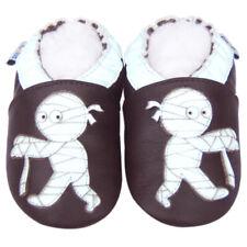 Soft Sole Leather Baby Infant Kids Toddler Children BoyZombieBrown Shoes 18-24M