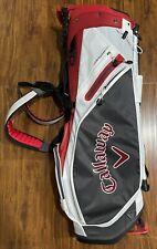Callaway Golf 2021 Fairway 14 Stand Bag Charcoal, White, Cardinal