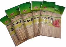5 X 200pcs cocktail party picker bamboo skewers fruit sticks 10cm -free shipping