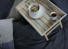 Wooden Breakfast in Bed Tray w Folding Legs, Table / Garden Drinks Nkuku Aboo
