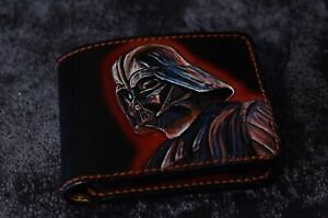 Fully handmade leather Darth Vader's  wallet from Star Wars universal