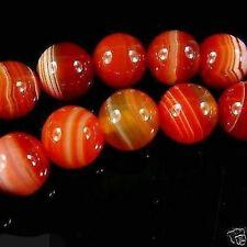 "Wholesale6mm Stripe Agate Onyx Round Gemstone Loose Beads 14"""
