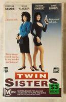 Twin Sisters VHS 1992 Thriller Tom Berry Stepfanie Kramer FOX Video [Ex-Rental]