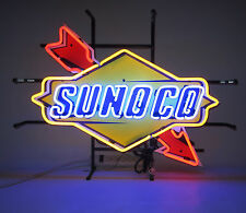 NEW Real Neon Sign Sunoco Arrow Nascar Hand blown glass Gas oil Gasoline lamp