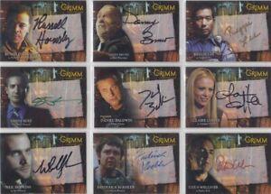 Grimm Season 1 Autograph / Auto Card Selection