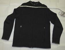 Ibex Gray Full Zip 100% Superwash Wool Sweater