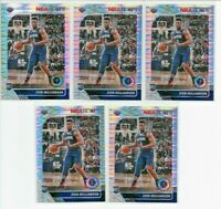 2019-20 Hoops Premium Stock ZION WILLIAMSON Pulsar Prizm LOT (x5) Pelicans #258