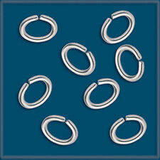 50 Sterling Silver 925 Oval Jump-Rings 7.5 x 5.4mm