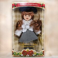 "DanDee Collectors Choice Porcelain Girl Doll 10"" Auburn Hair With Box and Stand"