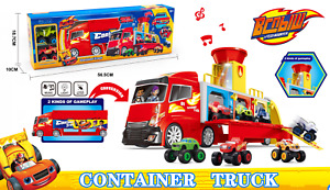 2-in-1 Container Truck Vehicle Blaze And Monster Machine Diecast Playset Kid Toy