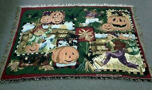 Goodwin Weavers HALLOWEEN Fall The Edith Collection Cotton Throw New Out of Bag