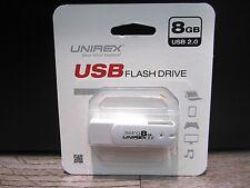 Unirex USFW-208WS Swing 8GB USB 2.0 Flash Drive - WHITE
