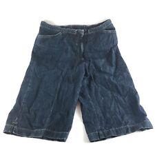 J. Jill Womens Jean Denim Shorts Knee Length Draw String Waist Size 8p