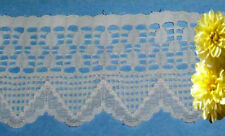"Ecru Vintage Lace Trim 5 Yards x 3"" CLOSEOUT Cotton O28V Added Trims ShipFree"