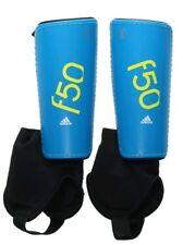 adidas Performance F50 Youth Shin Guard, Solar Blue/Semi Solar Yellow, Large