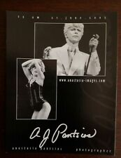 David Bowie and Tina Turner rare promo postcard Anastsia Pantsios
