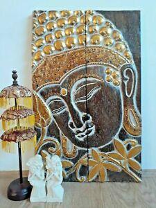 Buddha wall art wood carved home decor
