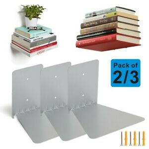 2/3pcs Conceal Invisible Bookshelf Wall Mounted Floating Book Shelf Storage