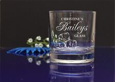 Personalised engraved Baileys glass/Mum's, Nan's Day Christmas present, gift 63