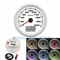85mm GPS Speedometer 200km/h Marine Odometer Gauge for Car Truck Boat Motorcycle