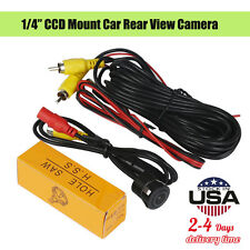 "1/4"" CCD Flush Mount Waterproof Truck Car Reverse Backup Rear View Camera DC 12V"