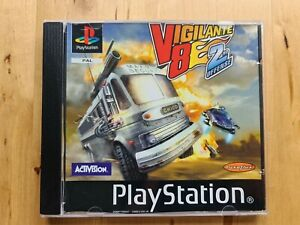 Vigilante 8 2nd Offense - Sony Playstation PSONE PS1 Game Disc And Front Insert