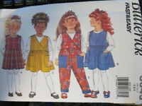 NEW UNCUT VINTAGE BUTTERICK GIRL'S CHILD PATTERN JUMPER PANTS 30143 SIZE 2-3-4