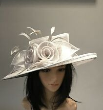 NIGEL RAYMENT SILVER GREY WEDDING ASCOT HAT  MOTHER OF THE BRIDE occasion