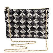 Sequin Sparkly Diamond Pattern Evening Handbag
