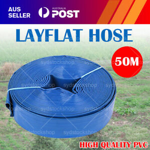 2 Inch 50m 50mm PVC  Layflat Hose Water Pump Transfer Lay Flat Discharge Outlet