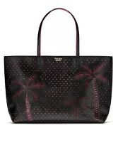 Victorias Secret Graphic Tease Tote Laser Cut Black/Pink NWT