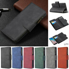 Zipper Retro Wallet Leather Flip Case Cover For Samsung A51 A31 A50 A21s S20 S10