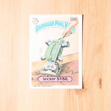 Vintage Garbage Pail Kids 1986 UK Sticker Collector's Card Suckin' Sybil 236b
