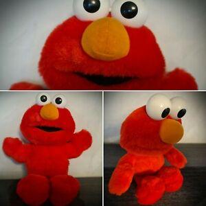 """Vintage 95-97 Tyco TICKLE ME ELMO Sesame Street Jim Henson 15"""" Talking Plush Toy"""