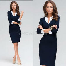 Women OL Formal Business Work Stretch Cocktail Party Evening Slim Pencil Dress