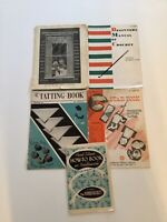 Lot#9. Lot Of 5 Vintage Needlework Books 1917-1950's. Crochet Knitting Tatting.