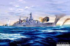 Naval Art Carte Postale Cuirassé USS TEXAS Débarquement en Normandie D Day Utah Beach