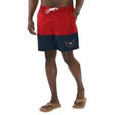 Washington Capitals G-III Sports Anchor Volley Swim Shorts - Red/Navy