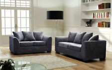 Jumbo Chord Grey Fabric Sofas 3 2 Seater Sofa Dylan Settee Couch
