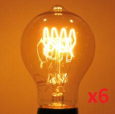6-Pack, LOOP Filament Edison-Marconi 60W Reproduction Antique Light Bulb,60 watt
